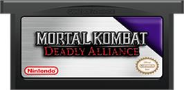 Cartridge artwork for Mortal Kombat: Deadly Alliance on the Nintendo Game Boy Advance.