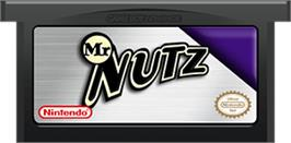 Cartridge artwork for Mr. Nutz on the Nintendo Game Boy Advance.
