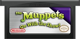 Cartridge artwork for Muppets: On with the Show on the Nintendo Game Boy Advance.