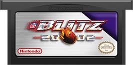 Cartridge artwork for NFL Blitz 20-02 on the Nintendo Game Boy Advance.