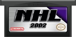 Cartridge artwork for NHL 2002 on the Nintendo Game Boy Advance.