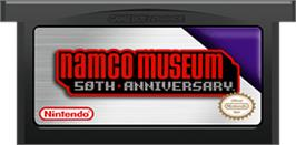 Cartridge artwork for Namco Museum 50th Anniversary on the Nintendo Game Boy Advance.