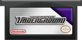Cartridge artwork for Need for Speed Underground on the Nintendo Game Boy Advance.