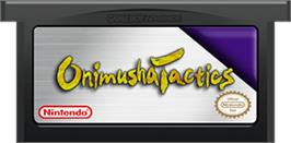 Cartridge artwork for Onimusha Tactics on the Nintendo Game Boy Advance.