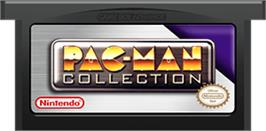 Cartridge artwork for Pac-Man Collection on the Nintendo Game Boy Advance.