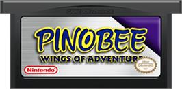 Cartridge artwork for Pinobee: Wings of Adventure on the Nintendo Game Boy Advance.