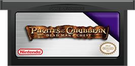 Cartridge artwork for Pirates of the Caribbean: Dead Man's Chest on the Nintendo Game Boy Advance.