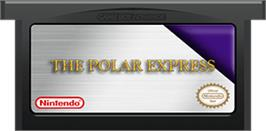 Cartridge artwork for Polar Express on the Nintendo Game Boy Advance.