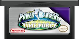 Cartridge artwork for Power Rangers: Time Force on the Nintendo Game Boy Advance.