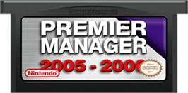 Cartridge artwork for Premier Manager 2005-2006 on the Nintendo Game Boy Advance.