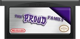 Cartridge artwork for Proud Family on the Nintendo Game Boy Advance.