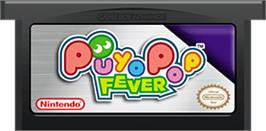 Cartridge artwork for Puyo Pop Fever on the Nintendo Game Boy Advance.