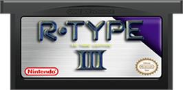 Cartridge artwork for R-Type III: The Third Lightning on the Nintendo Game Boy Advance.