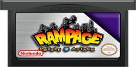 Cartridge artwork for Rampage Puzzle Attack on the Nintendo Game Boy Advance.