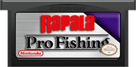 Cartridge artwork for Rapala Pro Fishing on the Nintendo Game Boy Advance.