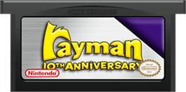 Cartridge artwork for Rayman on the Nintendo Game Boy Advance.