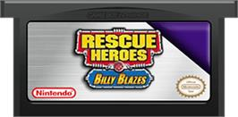 Cartridge artwork for Rescue Heroes: Billy Blazes on the Nintendo Game Boy Advance.