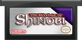 Cartridge artwork for Revenge of Shinobi, The on the Nintendo Game Boy Advance.
