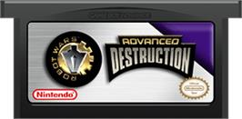 Cartridge artwork for Robot Wars: Advanced Destruction on the Nintendo Game Boy Advance.