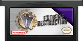 Cartridge artwork for Robot Wars 2: Extreme Destruction on the Nintendo Game Boy Advance.