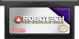 Cartridge artwork for Robotech: The Macross Saga on the Nintendo Game Boy Advance.