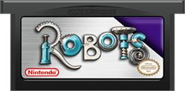 Cartridge artwork for Robots on the Nintendo Game Boy Advance.