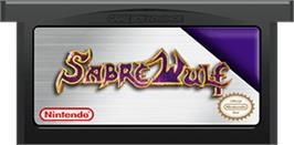 Cartridge artwork for Sabre Wulf on the Nintendo Game Boy Advance.
