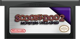 Cartridge artwork for Scooby Doo 2: Monsters Unleashed on the Nintendo Game Boy Advance.
