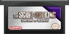 Cartridge artwork for Scorpion King: Sword of Osiris on the Nintendo Game Boy Advance.