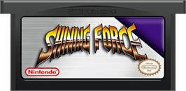 Cartridge artwork for Shining Force: Resurrection of the Dark Dragon on the Nintendo Game Boy Advance.