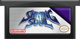 Cartridge artwork for Shining Soul on the Nintendo Game Boy Advance.