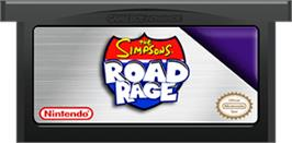 Cartridge artwork for Simpsons: Road Rage on the Nintendo Game Boy Advance.