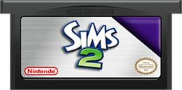 Cartridge artwork for Sims 2 on the Nintendo Game Boy Advance.