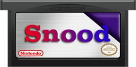 Cartridge artwork for Snood on the Nintendo Game Boy Advance.