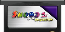 Cartridge artwork for Snood 2: On Vacation on the Nintendo Game Boy Advance.
