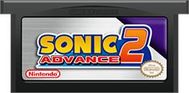 Cartridge artwork for Sonic Advance 2 on the Nintendo Game Boy Advance.
