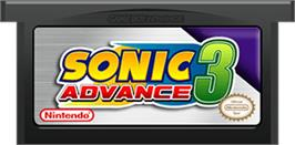 Cartridge artwork for Sonic Advance 3 on the Nintendo Game Boy Advance.