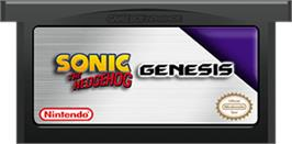Cartridge artwork for Sonic The Hedgehog on the Nintendo Game Boy Advance.
