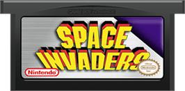 Cartridge artwork for Space Invaders on the Nintendo Game Boy Advance.