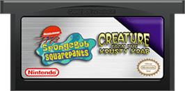 Cartridge artwork for SpongeBob SquarePants: Creature from the Krusty Krab on the Nintendo Game Boy Advance.