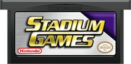 Cartridge artwork for Stadium Games on the Nintendo Game Boy Advance.