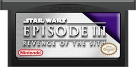 Cartridge artwork for Star Wars: Episode III - Revenge of the Sith on the Nintendo Game Boy Advance.