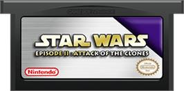 Cartridge artwork for Star Wars: Episode II - Attack of the Clones on the Nintendo Game Boy Advance.