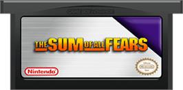 Cartridge artwork for Sum of All Fears on the Nintendo Game Boy Advance.