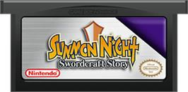 Cartridge artwork for Summon Night: Swordcraft Story on the Nintendo Game Boy Advance.