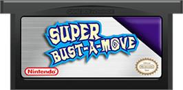Cartridge artwork for Super Bust-A-Move on the Nintendo Game Boy Advance.