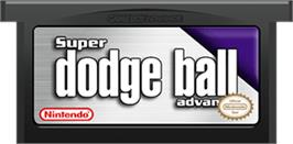 Cartridge artwork for Super Dodge Ball Advance on the Nintendo Game Boy Advance.