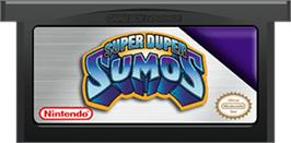Cartridge artwork for Super Duper Sumos on the Nintendo Game Boy Advance.