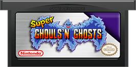 Cartridge artwork for Super Ghouls 'N Ghosts on the Nintendo Game Boy Advance.
