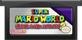 Cartridge artwork for Super Mario World: Super Mario Advance 2 on the Nintendo Game Boy Advance.